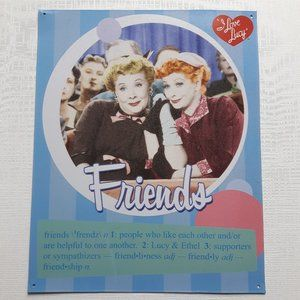 I Love Lucy Tin Sign Ethel and Lucy Lucille Ball